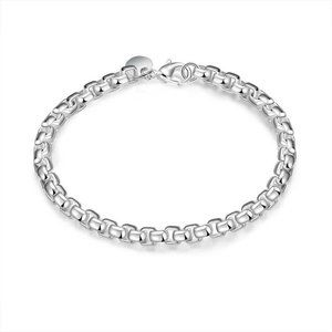 Jewelry - Women's Sterling Silver Plated Box Chain Bracelet